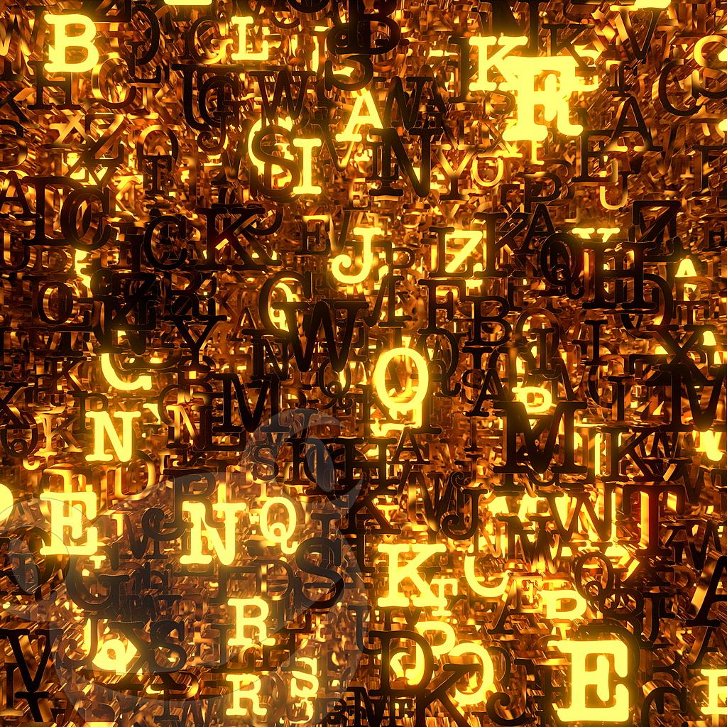 Buchstabenstapel