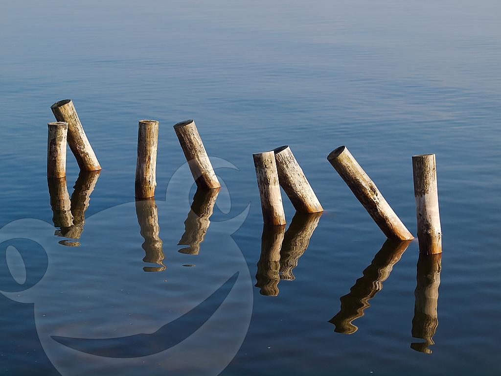 Pfosten im Wasser