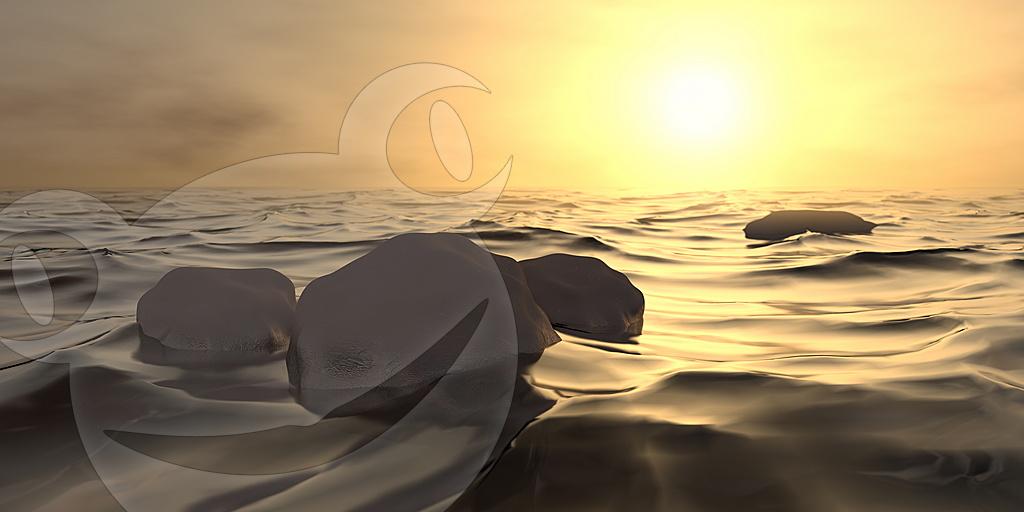 Digitaler Sonnenuntergang