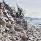 Steilküste Ahrenshoop im Winter